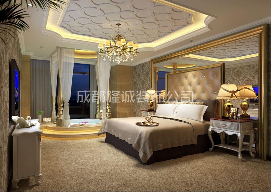成都尚峰酒店卧室案例