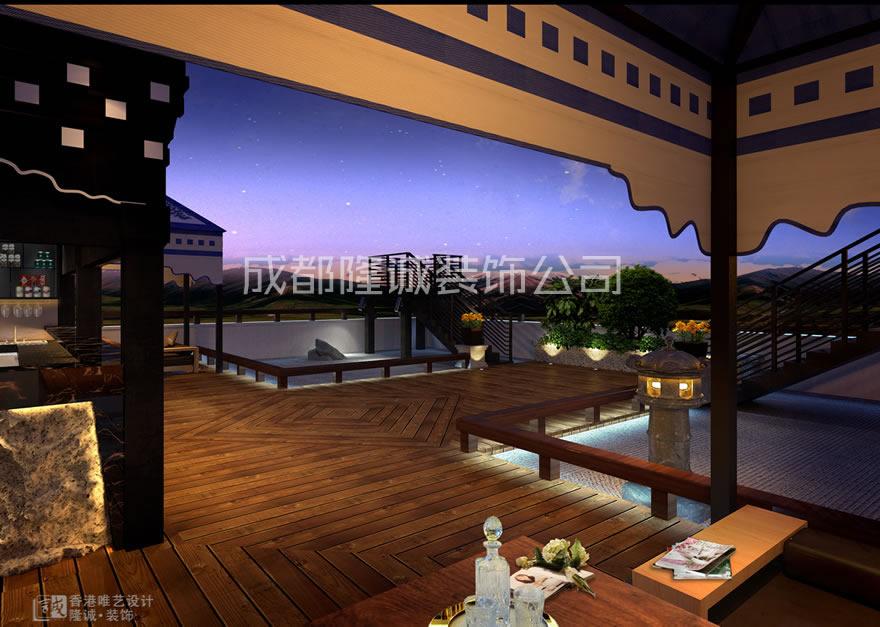 四川藏缘酒店观景案例