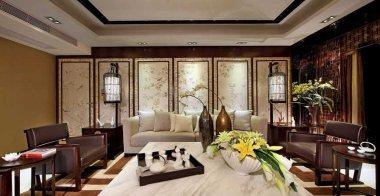 成都锦城花园中式家装案例